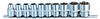 Набір торцевих 6-гр головок (10-24) на планшетці (10 предм)