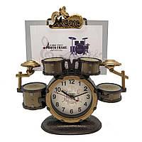 Фоторамка з годинником Барабани, фото 1
