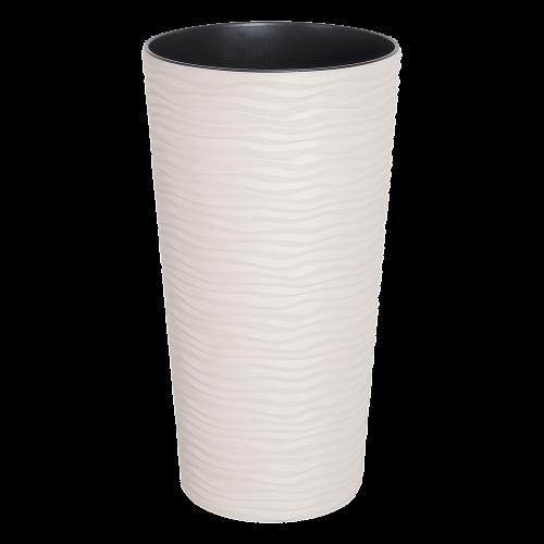 Вазон Фьюжн 16*30 см белая роза объем 2 л