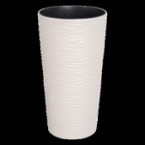 Вазон Фьюжн 16*30 см белая роза объем 2 л, фото 2