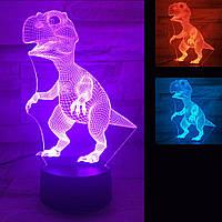 3D Світильник Динозавр 13-2, фото 1