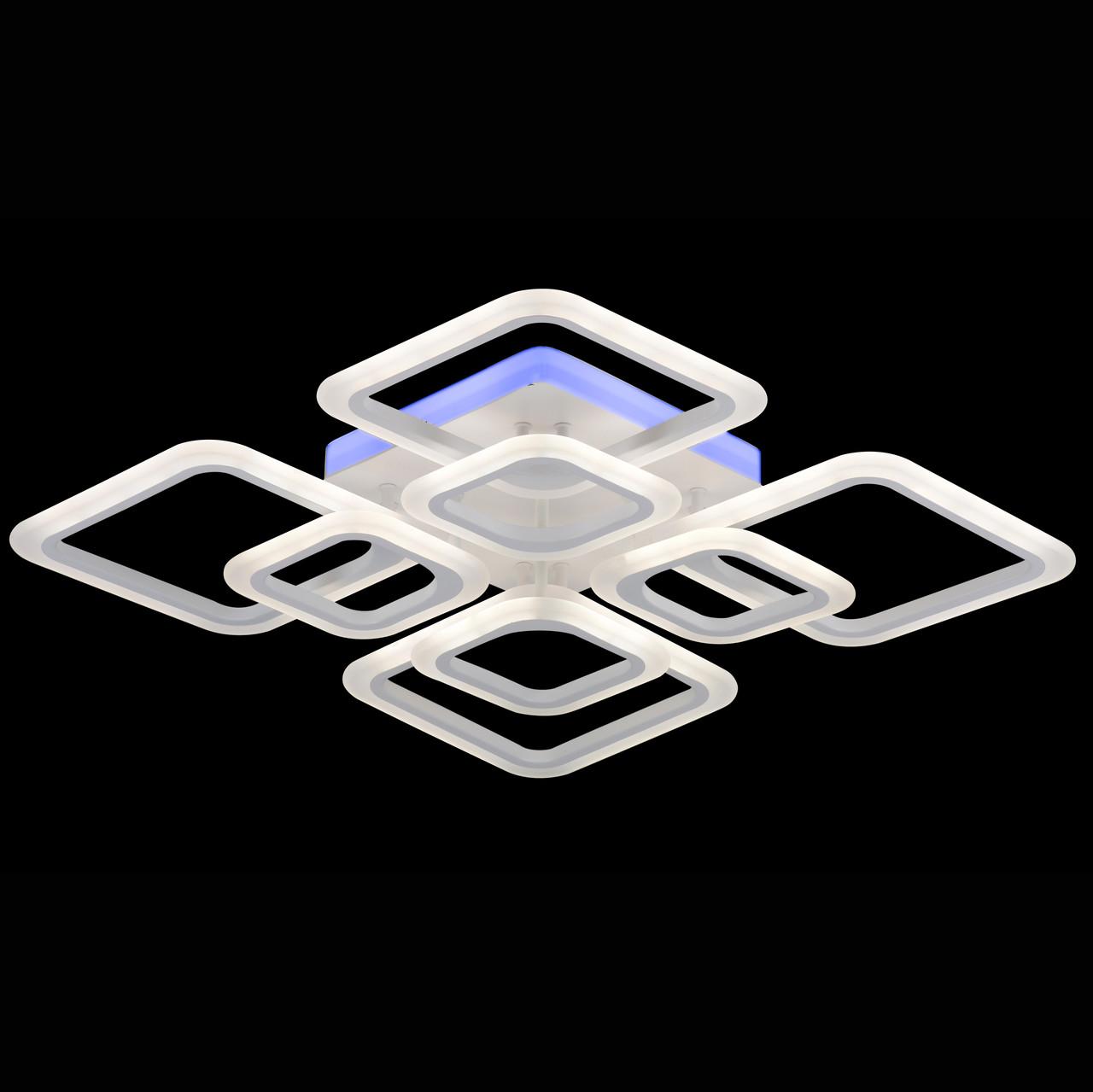 Люстра LED 87-W8036/4+4 GM RGB 192W+30W