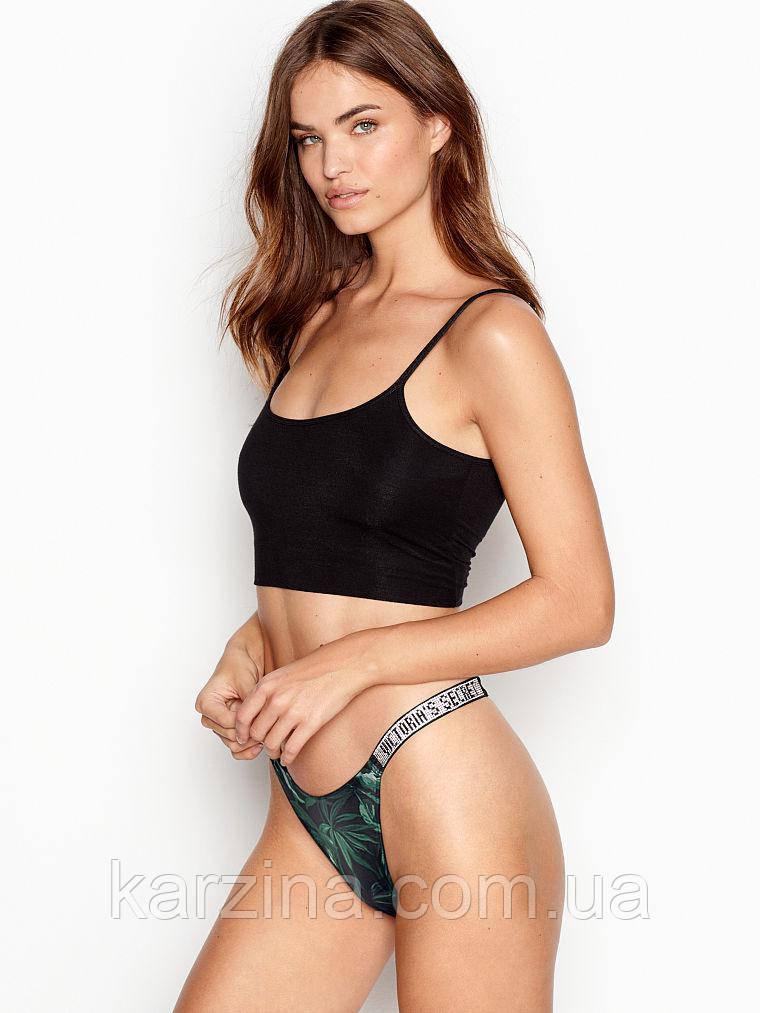 Трусики стринго со стразами Victoria's Secret Bombshell Shine Strap Thong Panty р. S Оригинал