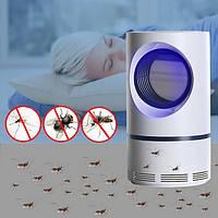 Лампа ловушка электрическая для комаров Москит Киллер Mosquito Killer Lamp уничтожитель насекомых от USB белая