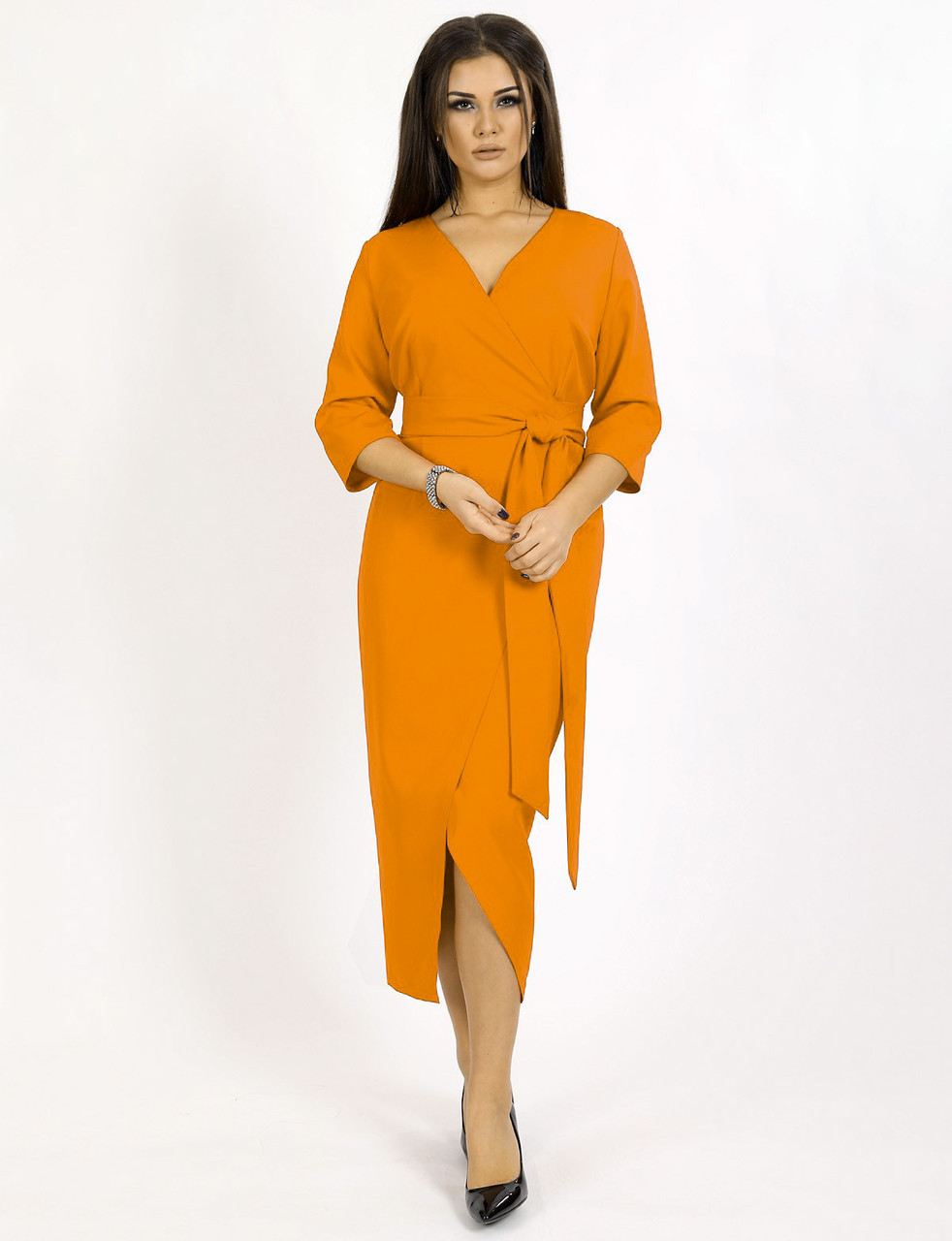 Платье женское горчичное вечернее ENIGMA MKENG 2142 D