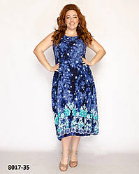 Летнее женское платье сарафан размеры 52-58