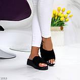 Шлепанцы женские черные натуральная замша, фото 5