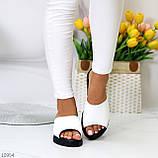 Шлепанцы женские белые натуральная кожа, фото 5