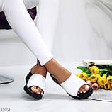 Шлепанцы женские белые натуральная кожа, фото 6