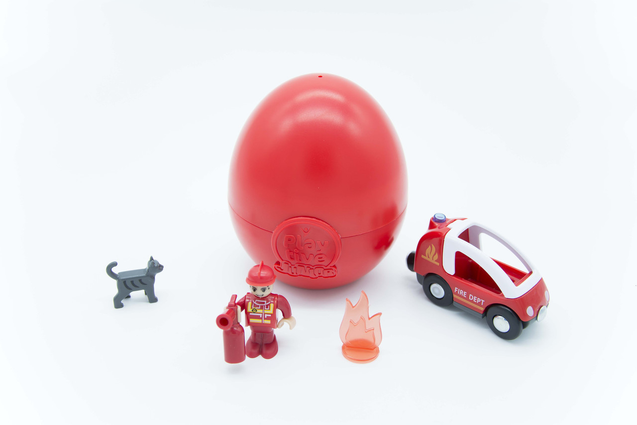 """Колекційне яйце-іграшка """"Пожежний набір"""" Playtive Junior 5 шт."""
