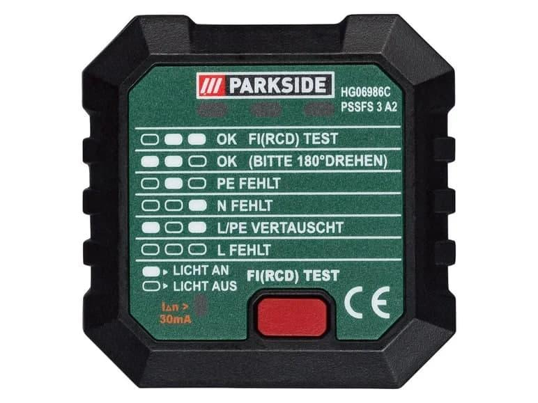 Тестер для розеток PARKSIDE PSSFS 3 A2