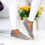 Жіночі мокасини/ еспадрільї сірі текстиль, фото 5