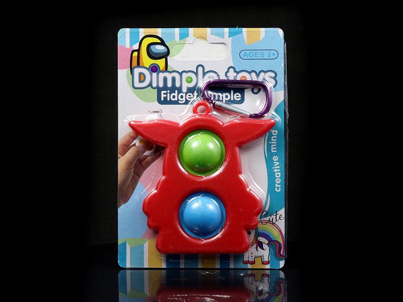 Іграшка силіконова антистрес Simple Dimple UKR-202 600шт 9012