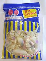 Воздушные шарики прозрачные с разноцветными конфетти 50шт