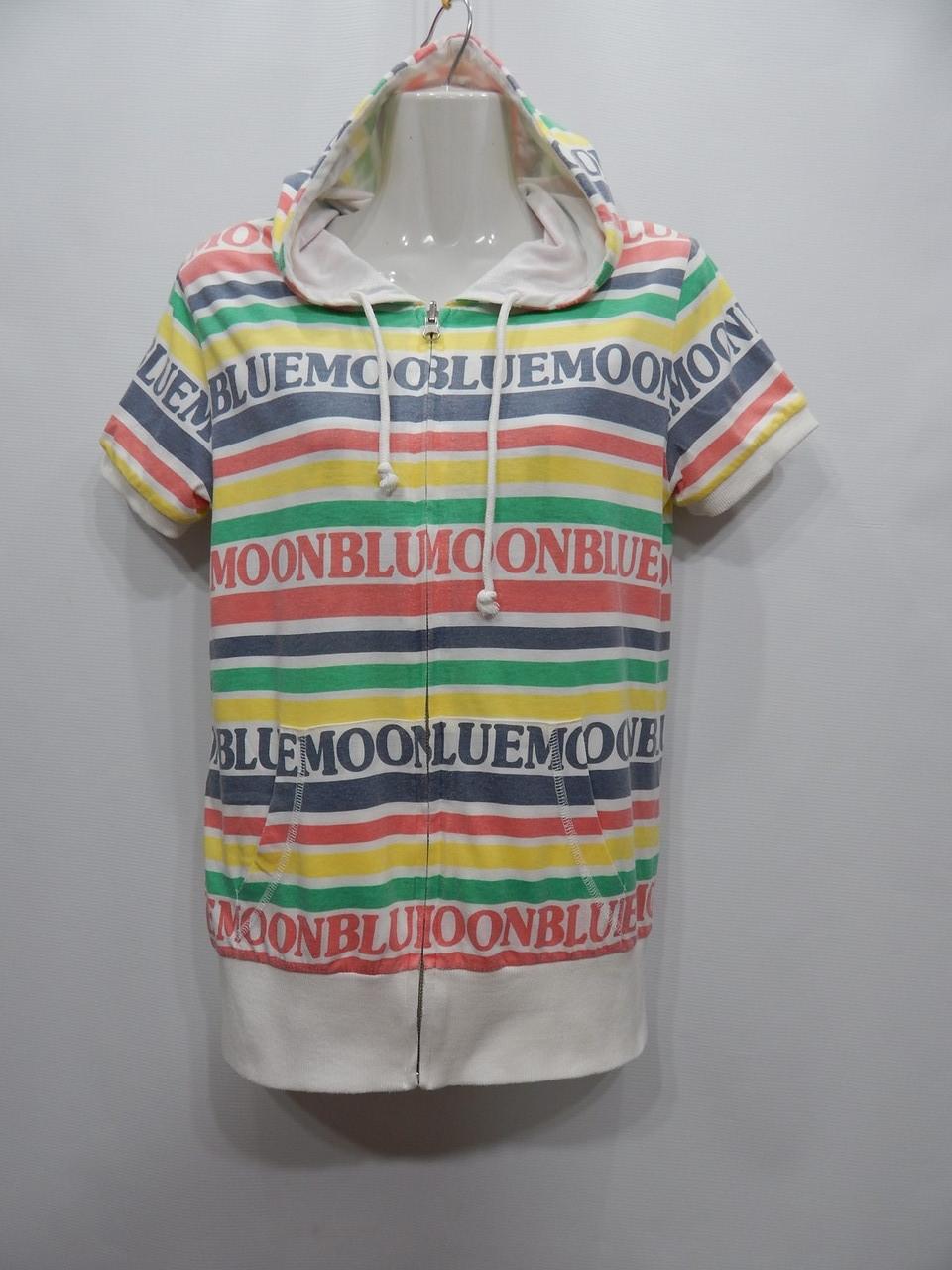 Толстовка - футболка жіноча двостороння подвійна з капюшоном BLUE UKR 42-44 р. 117PT