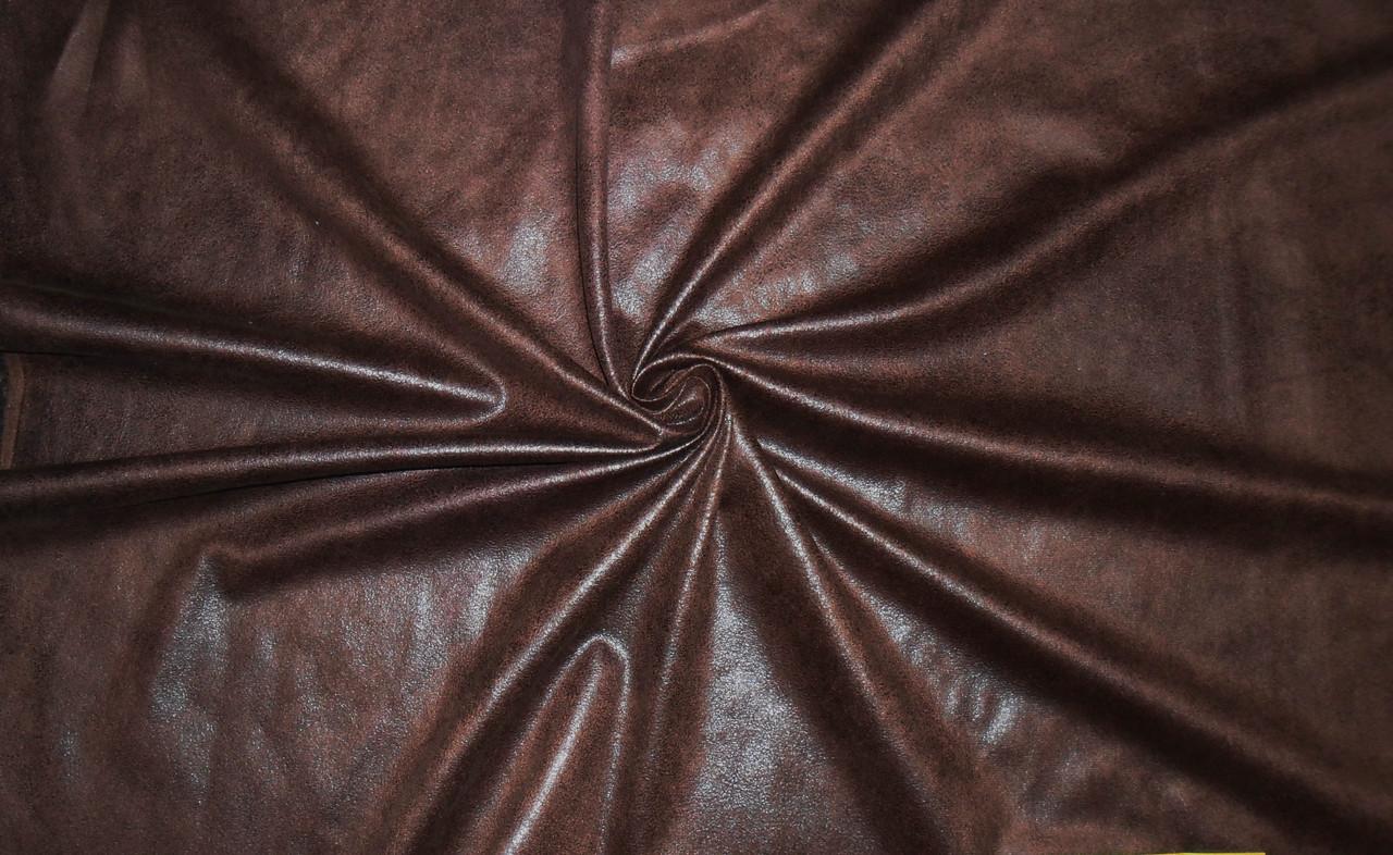 Искусственная замша коричневая