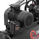 Компресор 100 л, 5 HP, 4 кВт, 380 В, 8 атм, 600 л/хв. 3 циліндра INTERTOOL PT-0036, фото 7