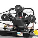 Компресор 100 л, 5 HP, 4 кВт, 380 В, 8 атм, 600 л/хв. 3 циліндра INTERTOOL PT-0036, фото 8