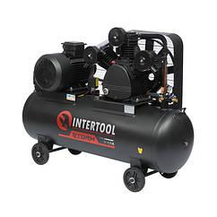 Компресор 300 л, 15 HP, 11 кВт, 380 В, 8 атм, 1600 л/хв. 3 циліндра INTERTOOL PT-0050