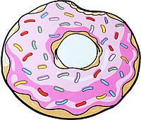 Коврик 3D круглый безворсовый с 3д принтом ковер для дома 80см Пончик Optmaster