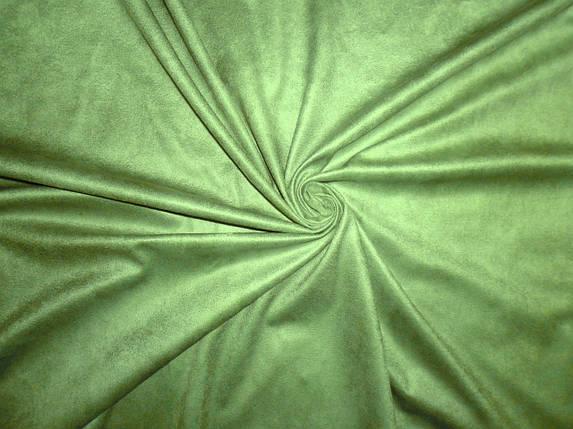 Искусственная замша св.зеленая, фото 2