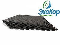 М'яка підлога пазл Lanor (500*500*10мм) Чорний, фото 1