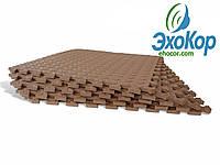 М'яка підлога пазл Lanor (500*500*10мм) Коричневий, фото 1