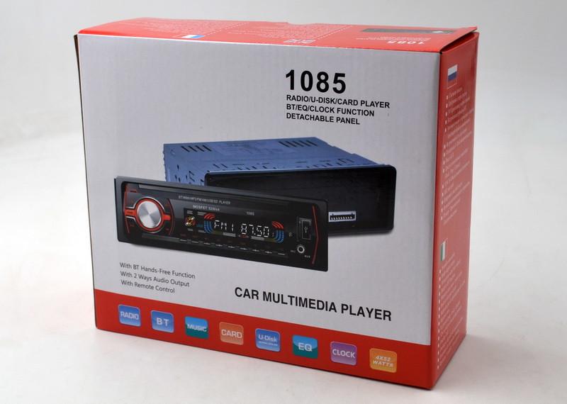 Автомагнитола MP3 1085 автомобильная магнитола 1 DIN в машину съемная панель USB+SD+AUX