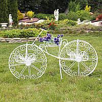 Кашпо великий двоколісний велосипед для вазонів велосипед 70*106*36 см