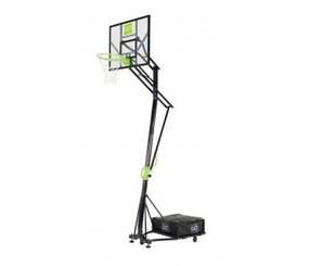 Переносной баскетбольный щит EXIT Galaxy green/black на колёсиках