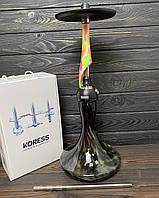 Кальян Koress K1 Flowers Craft черно-зеленая