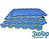 Мягкий пол пазл Lanor Спорт 500*500*20мм - Жёлто-синий