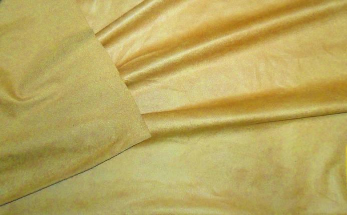 Искусственная замша св.оранжевый, фото 2
