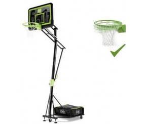 Баскетбольная стойка EXIT Galaxy black + кольцо с амортизацией
