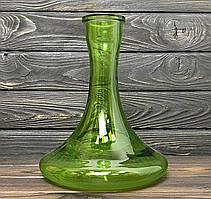 Колба для кальяна Craft, крафт зелено-прозрачная