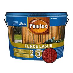 Деревозахист для пиляних дерев'яних поверхонь Pinotex Fence Lasur червоне дерево 10л