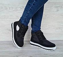 Женские зимние ботинки на шнуровку с высокой платформой (БТ-6ч)