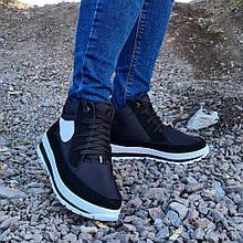 Ботинки женские кроссовки на меху утепленные (БТ-6ч-2)