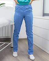 Медицинские женские брюки голубые, фото 1