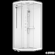 Гидромассажный бокс AM.PM W90C-018-090WTA Gem 90х90 профиль белый, стекло прозрачное