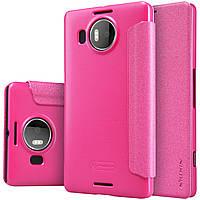Кожаный чехол Nillkin Sparkle для Microsoft Lumia 950 XL розовый, фото 1