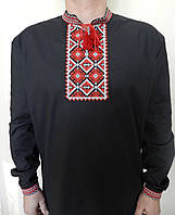 Вышиванка мужская черного цвета., фото 1