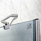 Штора на ванну Lidz Brama SS120x140R.CRM.FR стекло Frost 6 мм, правая, фото 3