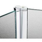 Штора на ванну Lidz Brama SS120x140R.CRM.FR стекло Frost 6 мм, правая, фото 6