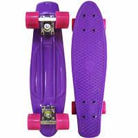 Пенни борд фиолетовый: 6 цветов, до 80кг