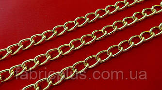 Цепь декоративная  12*7 мм  золото