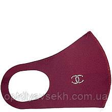 Багаторазова захисна маска - пітта (неопрен), бренд Бордовий