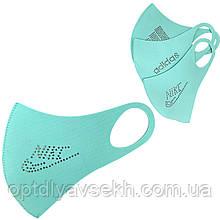 Багаторазова захисна маска - пітта (неопрен), бренд Блакитний
