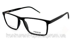 Іміджеві рогові окуляри для чоловіків у чорному кольорі Proud FA05-08