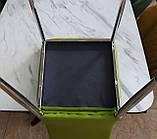 Обеденный мягкий стул N-67 оливковый кожзам Vetro Mebel (бесплатная доставка), фото 5